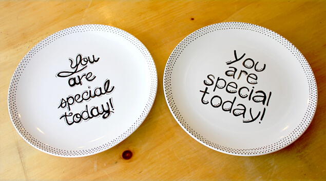 you are special plate