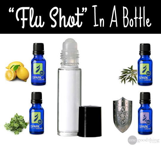 Flu shot in a bottle