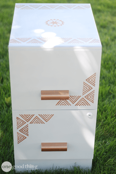 An Easy And Affordable Filing Cabinet Makeover
